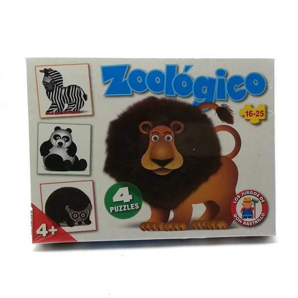 Puzzle Zoologico x4 16-25 Piezas