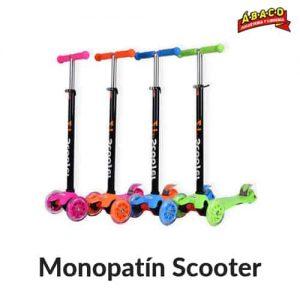 Monopatin scooter 4 ruedas con LED