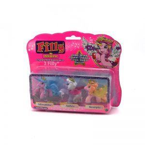 Set Pony Filly Stars Amigos x3