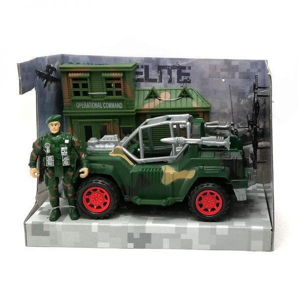 Set Militar Muñeco Vehiculo y Cuartel