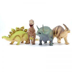 Dinosaurio Goma Mediano x1