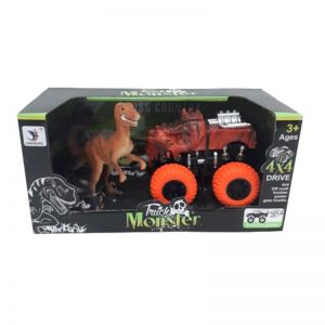 Camioneta Monster Chica Friccion con Dinosaurio